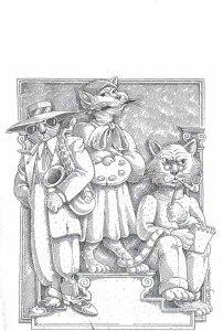 Marty Norman's cat illus'n 75 dpi copy No cats on pedestals